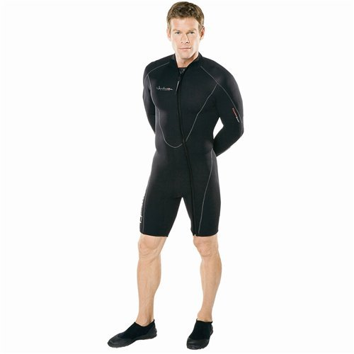 Henderson Man 5mm Thermoprene Long Sleeve Shorty / Jacket (Front Zip) Scuba Diving Wetsuit-XLarge by Henderson -