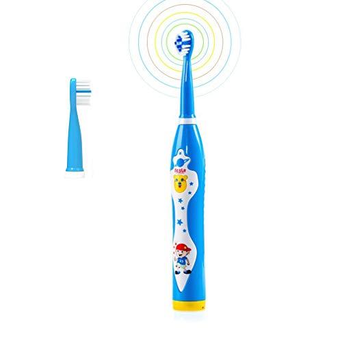 ZMH Wasserdicht Wiederaufladbare USB-Soft-Bristle Lustige Karikatur Singen Musik Sonic Kids Elektrische Zahnbürste Mit Timer Kinder Blue Boy Red Girl,Blue -