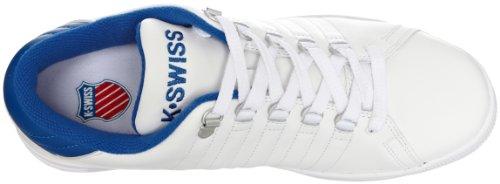 K-swiss Lozan, Baskets Basses À Col Blanc Homme (weiß (blanc / Bleu Classique / Rouge))