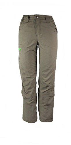 CRIVIT OUTDOOR Jungen Trekkinghose Zip Off Beige/Grün 122/128 (Jungs-stretch-boardshort)