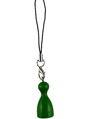 Handyanhänger / Schlüsselanhänger / Anhänger Spielfigur Männchen Figur Spiel Spieler Brettspiel grün H96
