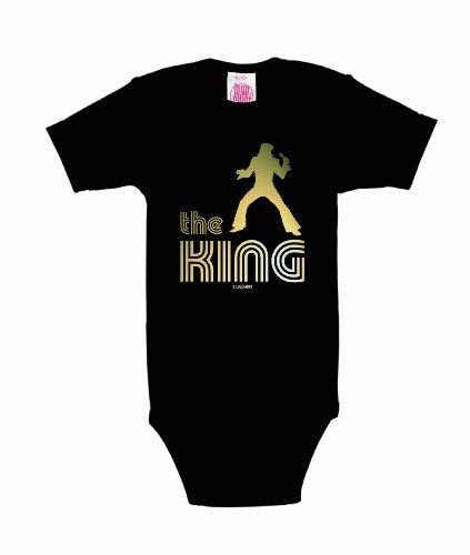 Logoshirt The King Body Bébé garçon, Noir (Black), FR : 1 (Taille Fabricant : 0-2 Mois)