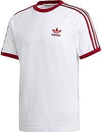 size 40 e323c 4edc3 adidas 3-Stripes T-Shirt, Maglietta Uomo, Bianco Power Rosso,
