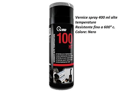 VMD bomboletta 400 ml vernice spray colore nero alte temperature per camini stufe forni barbecue resistente fino a 600° c.