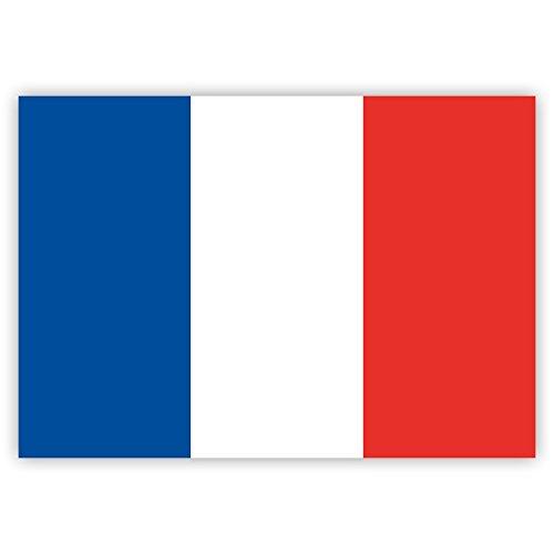 10 x Aufkleber Frankreich-Flagge, 7,4 x 5,2 cm für innen und außen -