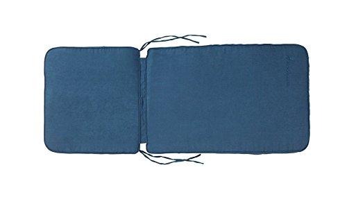 Isabella rembourré Housse de chaise en microfibre – bleu