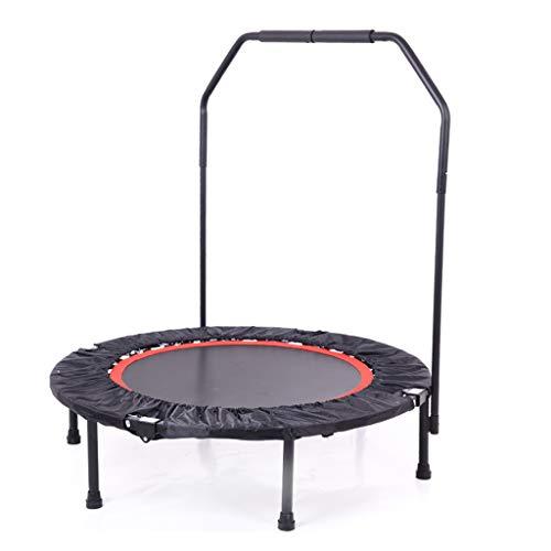 LKFSNGB Trampolin, Faltbares Mini-Fitness-Trampolin - Tragbares Sportgerät mit Armlehnen, Kindertrampolin, Erwachsenensporttrampolin - Gewicht 150 kg