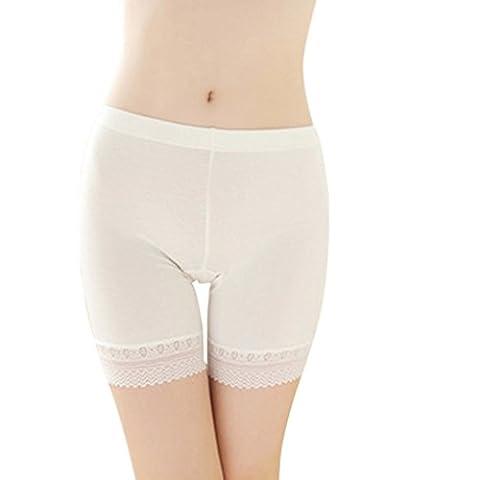 Damen Unterwäsche Slip Unterhosen Sicherheits Shorts Unterwäsche Kurz Leggings Panties Softe Spitze Hipster (Kurze 3er-pack Panty)