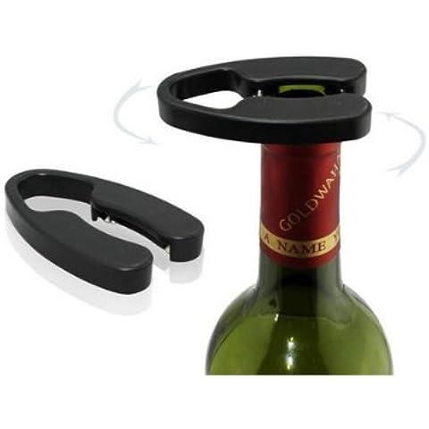 La botella de vino rojo de la hoja de corte herramienta de corte