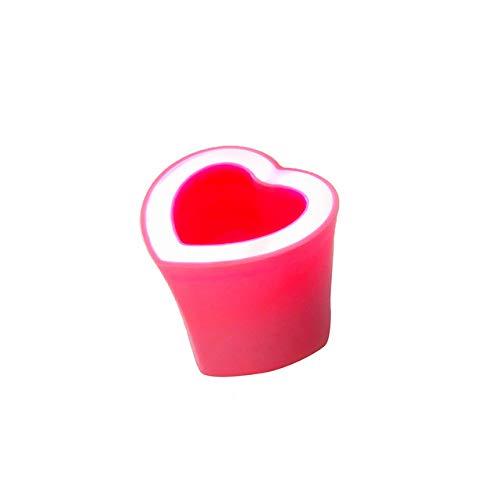 qiyanCreative Herzform Blumentopf Bluetooth Lautsprecher Audio Player Wohnkultur Geschenk-in Blumentöpfe & Pflanzgefäße Rosa -