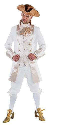 M213208-XXL weiß-beige Herren Barockkostüm Rokoko Anzug Gr.XXL