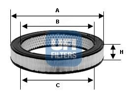 Preisvergleich Produktbild UFI 30.811.00 Luftfilter