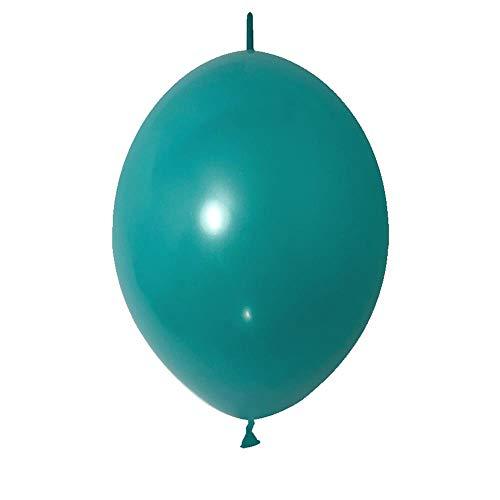 duyou 100 Türkisch Blau Latex Ballon Hochzeit Hochzeit Dekoration Schwanz Ball Styling Ball 6 Zoll Abschlussfeier Jubiläumsarrangement