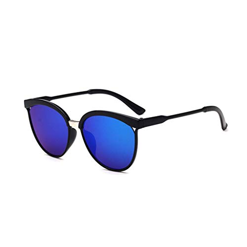 EUCoo Modische Sonnenbrille, AusgehöHlte Big Box-Sonnenbrille, Reflektierende Uv-Schutzbrille(E)
