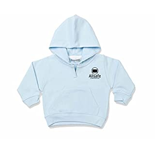 Brand88 Cybersecurity, Toddler Hooded Sweatshirt - Pale Blue/Black 6-12 Months