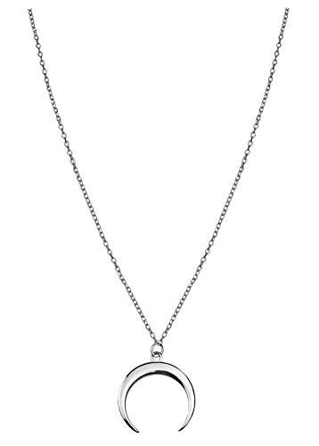 SOFIA MILANI Damen Halskette Mond Anhänger Silber 50236 (Halskette Anhänger Mond)