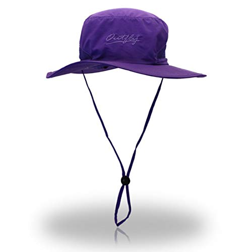 Ovaler, schnelltrocknender Fischerhut mit Sonnencreme für den Außenbereich Imprägnierung Imprägnierung Gehender Esel Bergfischer Hutkappe Hut (Farbe : Lila)