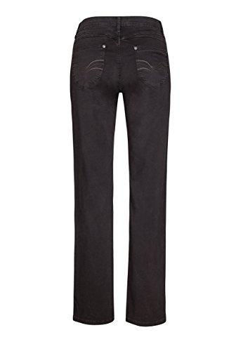 Million X Femme Jeans Linda couleur jambes droites noir marron