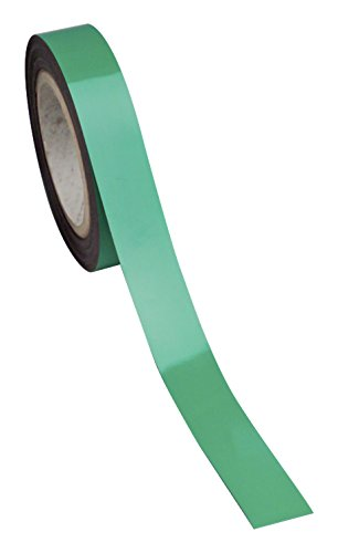 Swiftpak 7252 chiusura magnetica, facile da pulire, striscia scaffali, 30 mm x 10 m, colore: verde