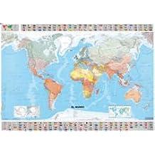 El mundo. Mapa plastificado (Mapas en tubo y plastificados Michelin)