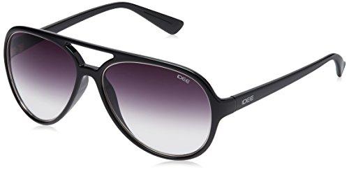 IDEE Aviator Sunglasses (IDS1939C1SG|57|Black ) image
