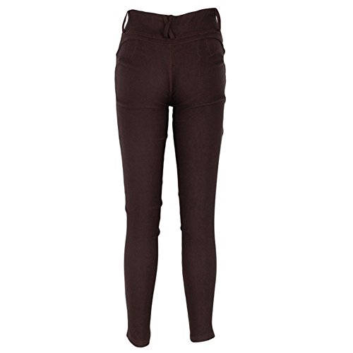 Damen Hose Skinny Röhre Push up Hose Stretch Slimfit Jeggings Leggings Stretch Röhrenjeans Jeans Dunkel Braun
