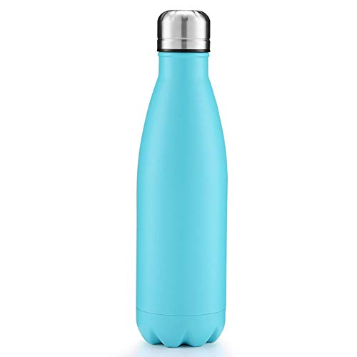 Doppelwandige Edelstahl-Wasserflasche, Der Ultimative Isolierkessel Aus 500 Ml Edelstahl. Halten Sie Die Heiße Und Kalte Wasserflasche Dicht, Schmaler Mund,I