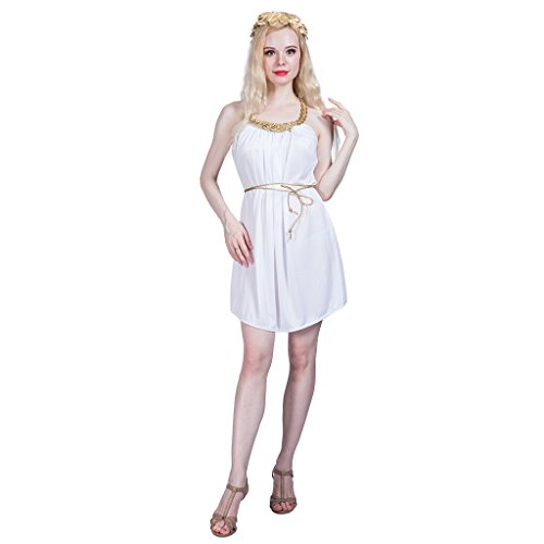 Wasser Göttin Kostüm - EraSpooky Damen Griechische Göttin Kostüm Faschingskostüme Cosplay Halloween Party Karneval Fastnacht Kleid für Erwachsene