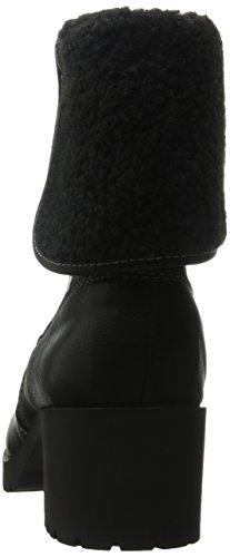 Moda Torno Ousadia Em Boots Aerosoles Ankle Em Arte Couro Preto wYF7c