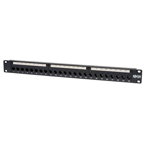 Panel-rack-zubehör (Tripp Lite 24-Port 1U Rack CAT5e feedthrough Patch Panel, RJ45Ethernet (N054–024))