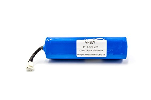 Vhbw li-ion batteria 2600mah (12.8v) per home cleaner robot lavapavimenti philips smartpro compact fc8710