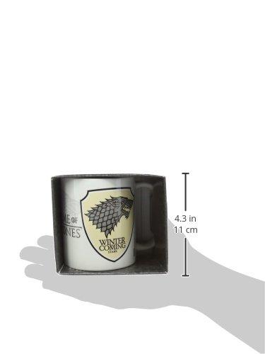 confronta il prezzo online Lasgo Game Of Thrones Tazza Stark, Ceramica, Multicolore, 12×10.8×9.2 cm