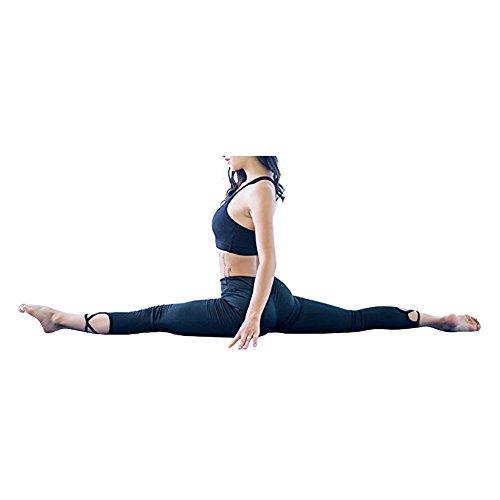 iBaste Yoga donna reggiseno sportivo di fitness cime Nero