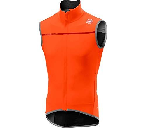 Castelli Radfahren Weste (Castelli Radweste Perfetto Vest orange (33) M)