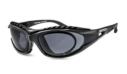 Arctica ® Polarisierte Sport Sonnenbrille S-125 mit optischem Rand und verstellbaren Bügeln