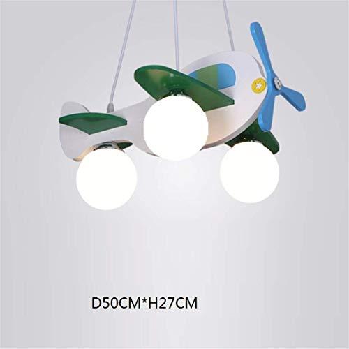 GD1 Plafonnier Nordic Chambre d'enfant Lampe Fille Princesse Avion Lumière Creative Bande Dessinée Garçon Chambre Bébé Simple en Bois Massif Lustre de Chambre