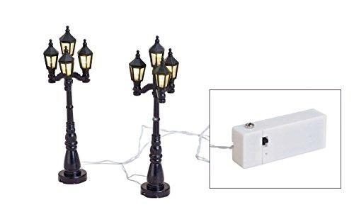 LED Strassen-Laternen 12736 Lichterkette aus 2 Laternen mit je 4 LED-Lichtern