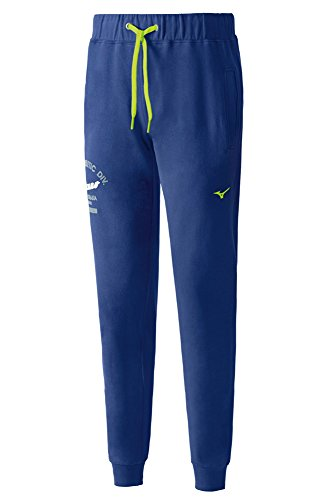 Mizuno Heritage Rib Pants Pantaloni Training Uomo, Blu, S Blu