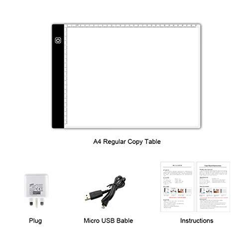 certylu Display Copy Pad, A4 USB LED Tattoo Schablone Board Light Tracing Zeichentisch Box (Tattoo-tracing-board)