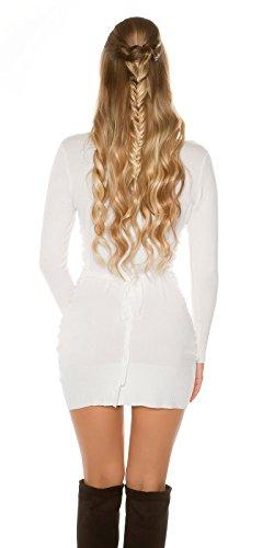 zarima - Gilet - Uni - Manches Longues - Femme Weiß