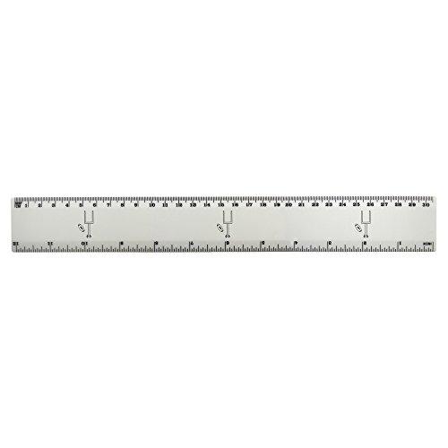 Azeeda 'Amerikanischer Fußball' 30cm (12 Zoll) weißer Kunststoff Herrscher (RL00029212)