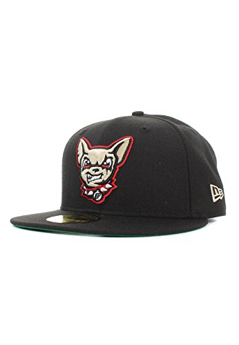 New Era Minor League Elpchi 59Fifty Cap EL PASO CHIHUAHUAS Schwarz, Size:7 5/8