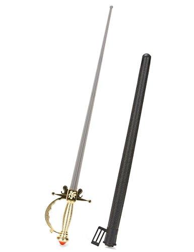 Generique - Degen Piraten/Musketierschwert aus Kunststoff für Erwachsene