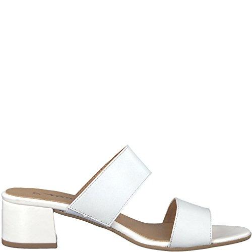 Tamaris Damen 27231 Pantoletten White Leather