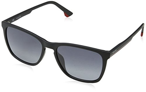 Police Sunglasses Herren Sonnenbrille Track 6, Schwarz (Semi-Matt Black), 55