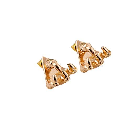 YaptheS Greifer-Ohrring-Hawk-Greifer-Ohrring-Weinlese-justierbarer Ohrring Einzigartige Piercing Ohrstecker für Frauen Goldenen 1PC