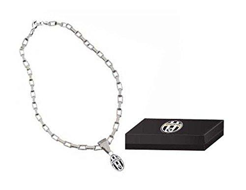 Collana in metallo con pendente logo Juventus - Logo Ufficiale Pendente Logo A Pendente