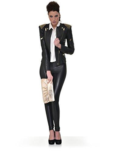 Leder Clutch mit Metallic-Optik von CNTMP Metallicleder Damen Leder Handtaschen, Clutch, Clutches, Clutchbags, Unterarmtaschen, Partybags, Trend-Bags, Metallic, Leder Tasche, 31x15x2,5cm (B x H x T) Silber