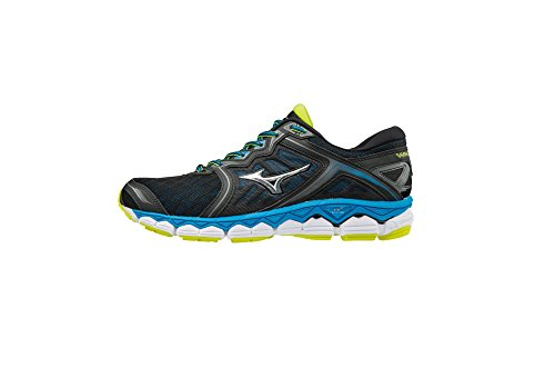 Mizuno scarpe running uomo wave sky black/silver/divablue (eu 46.5)