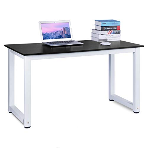 Bureau pour Ordinateur, DOSLEEPS Bureau Étude Bureau Ordinateur PC Table D'ordinateur Portable Poste De Travail Table De Gaming pour Home Office, Black Wood Grain